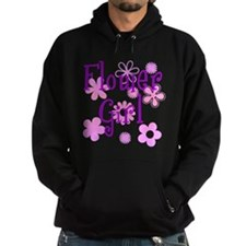 Pink and Purple Flower Girl Hoodie