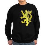 Heraldic Gold Lion Sweatshirt (dark)