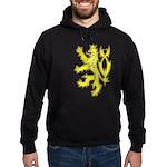 Heraldic Gold Lion Hoodie (dark)