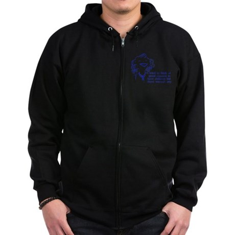 Reason For Child-Free Zip Hoodie (dark)