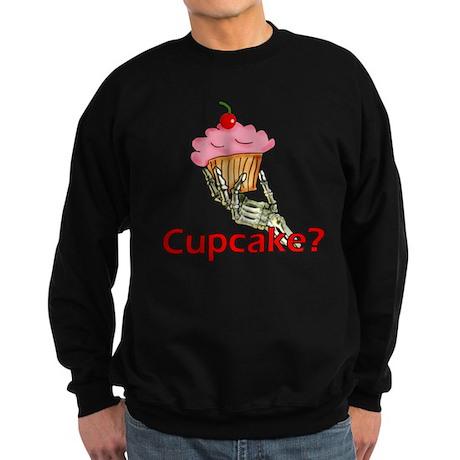 Skeleton Hand Cupcake Sweatshirt (dark)