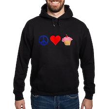 Peace Love Cupcakes Hoodie