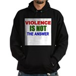 Violence is Not the Answer Hoodie (dark)