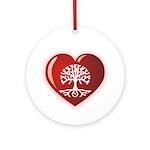 Heart Genealogy Ornament (Round)