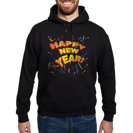 Confetti New Years Eve Hoodie (dark)