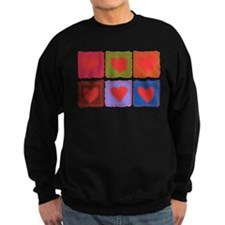Country Patchwork Hearts Jumper Sweater