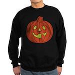 Grinning Halloween Pumpkin Sweatshirt (dark)