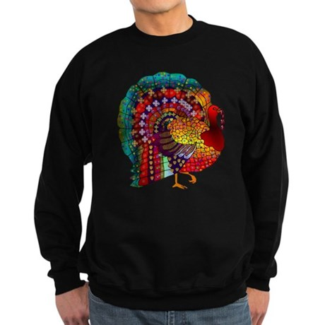 Thanksgiving Jeweled Turkey Sweatshirt (dark)