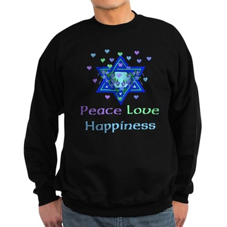Peace Love Happiness Sweatshirt (dark)