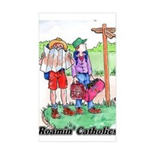 Roamin' Catholic Rectangle Decal