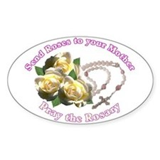 Rosary Oval Decal
