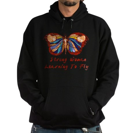 Strong Woman Learning To Fly Hoodie (dark)