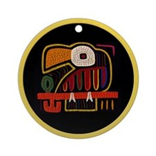 Indigenous Panama Bird Art Ornament (Round)