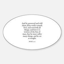 MARK 9:12 Oval Decal