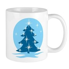 Blue Christmas Tree Mug