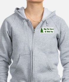 May The Forest Be With You Zip Hoodie