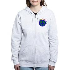 Imagine Peace Zip Hoodie