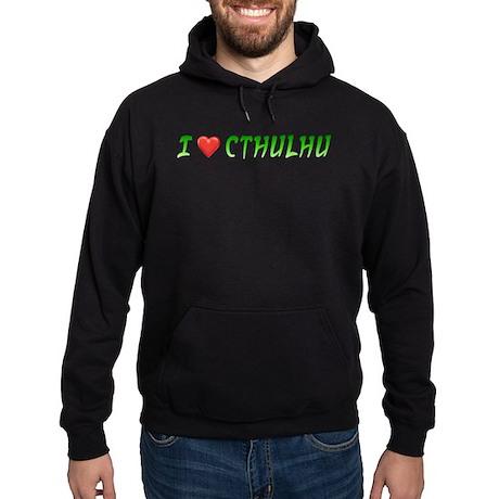 I Heart Cthulhu Hoodie (dark)