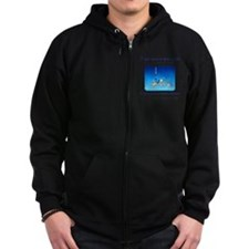 Pray For Fish Zip Hoodie