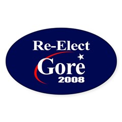 RE-ELECT GORE 2008 Oval Decal