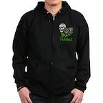 Nihilist Skull Zip Hoodie (dark)