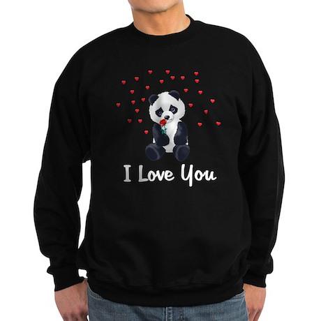 Panda Bear Love Sweatshirt (dark)
