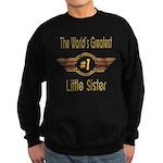 Number 1 Little Sister Sweatshirt (dark)