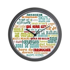 Unique Spanish language Wall Clock
