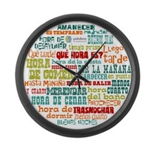 Cool Vocabulary Large Wall Clock