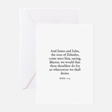 MARK  10:35 Greeting Cards (Pk of 10)