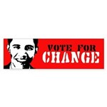 Vote for Change / Obama Bumper Bumper Sticker