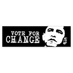 Vote for Change / Obama Bumper Bumper Bumper Sticker