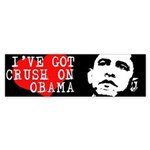 I've got a crush on Obama Bumper Bumper Sticker