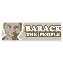 Barack the People Bumper Bumper Bumper Sticker