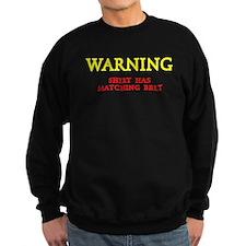Matching Belt Sweatshirt