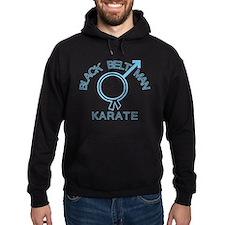 Karate Black Belt Man Symbol Hoodie