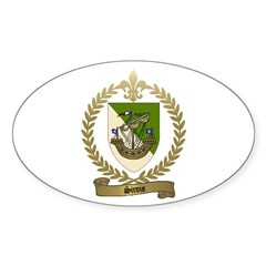 SIROIS Family Crest Oval Decal