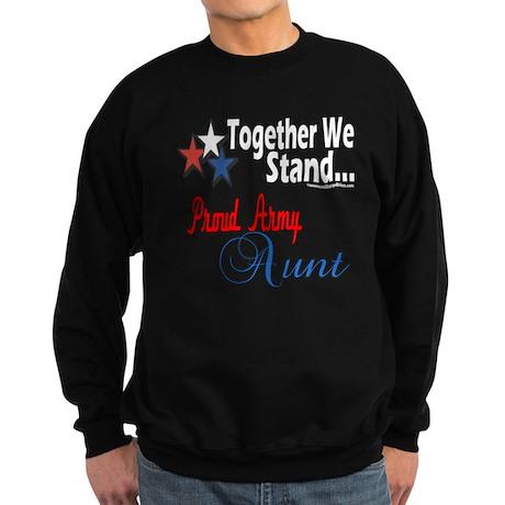 Proud Army Aunt Sweatshirt (dark)