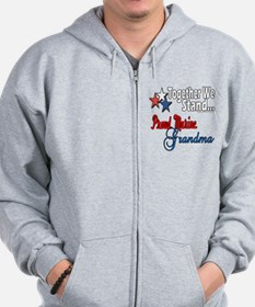 Marine Grandmother Zip Hoodie