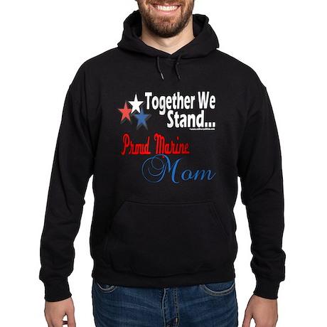 Proud Marine Mom Hoodie (dark)