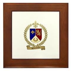 SIMONEAUX Family Crest Framed Tile