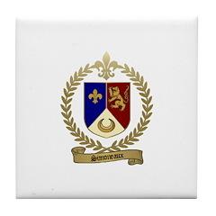 SIMONEAUX Family Crest Tile Coaster