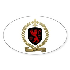 SICOT Family Crest Oval Decal