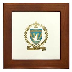 SERREAU Family Crest Framed Tile