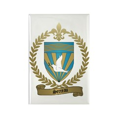 SERREAU Family Crest Rectangle Magnet (100 pack)