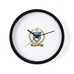 SERREAU Family Crest Wall Clock