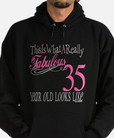 35th Birthday Gifts Hoodie (dark)