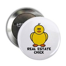 """Real Estate Chick 2.25"""" Button (10 pack)"""