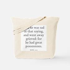 MARK  10:22 Tote Bag