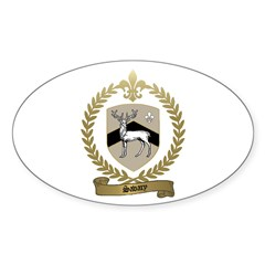 SAVARY Family Crest Oval Decal